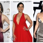 Michelle Rodriguez' best red carpet looks prove the duality of womanhood is complex, fascinating, and a true fashion feat. (Photo: WENN)