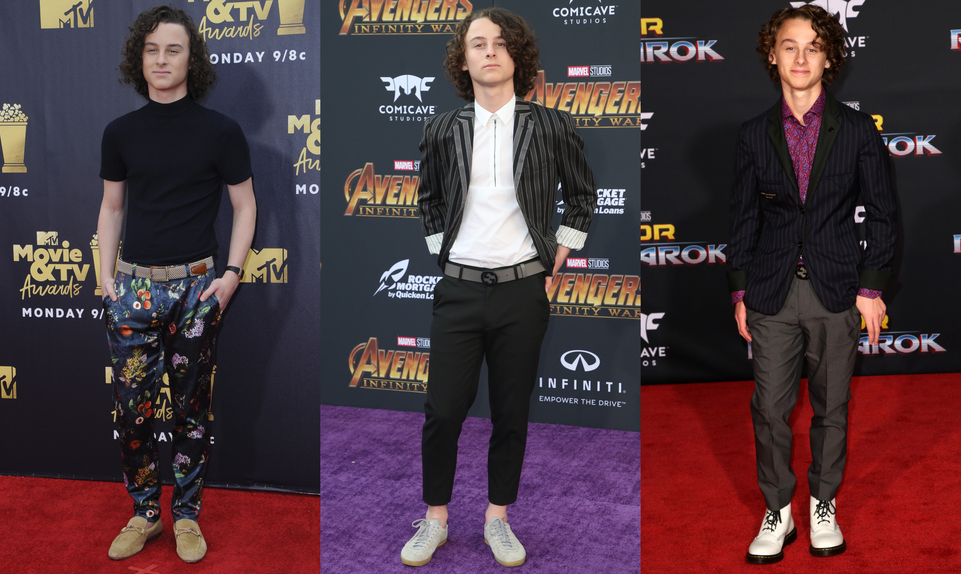 In honor of his 15th birthday, here are 10 pictures that prove youngster Wyatt Oleff is a fashion style revelation. (Photo: WENN)