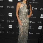 Rodriguez attended Harper's Bazaar 2016 Icons party in a snug-fitting dress covered in an intricate silver embroidery. (Photo: WENN)