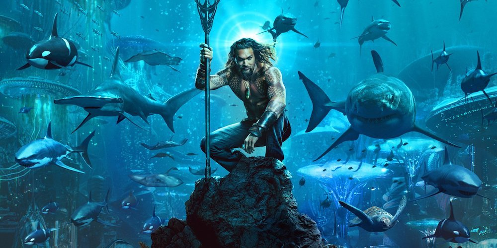 Warner Bros. released the first Aquaman movie poster Monday, and it was everything we expected—but not necessarily in a good way. (Photo: Release)