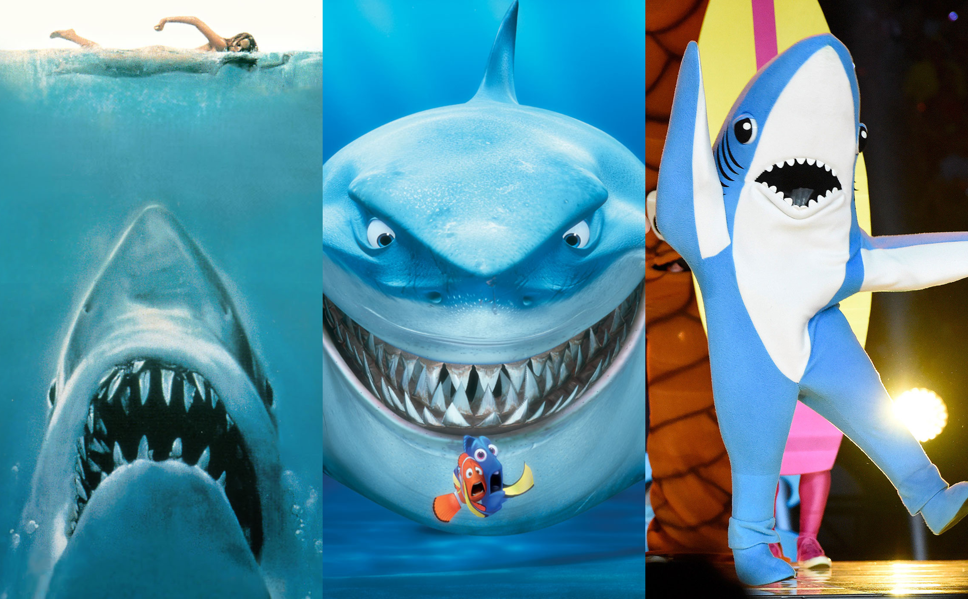 In honor of TV's greatest nature marathon Shark Week, click through our photo gallery to see 10 of our favorite pop culture sharks based in awesomeness, of course. (Photo: Release)