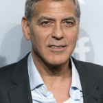 "Clooney on the Italian island where he is filming his new TV series ""Catch-22"". (Photo: WENN)"
