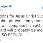 Chrissy Teigen took to Twitter to celebrate her husband's nomination. (Photo: Twitter)