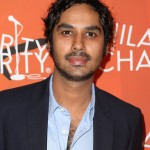 Big Bang Theory's Kunal Nayyar and his curly hair attending the 5th annual Hilarity for Charity show. (Photo: WENN)