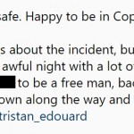 """Embarrassed and apologetic beyond words about the incident,"" he wrote to his fans. (Photo: Instagram)"