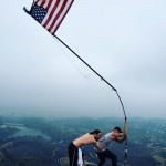 Diplo and Steve Aoki took in a morning hike to kick star their July 4th festivities in L.A. (Photo: Instagram)