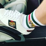 When you Gucci sneakers match your Gucci socks. (Photo: Instagram)