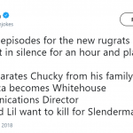 Are this suggestions for the new Rugrats or the 4th season of Black Mirror? (Photo: Twitter)