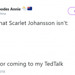 *Drops the mic at Scarlet Johansson face* (Photo: Twitter)