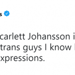 Yet another reason why Scarlett Johansson shouldn't have gotten the role. (Photo: Twitter)
