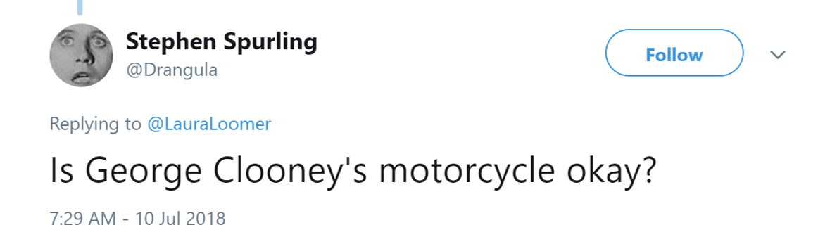 George Clooney Was In A Scooter Accident And Twitter Is