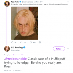 When she totally shut down comedian Ross Noble. (Photo: Twitter)
