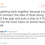 The most Oasis on brand reunion possible! (Photo: Twitter)