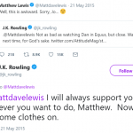 Or that time she reacted to Neville Longbottom's sexy photo shoot. (Photo: Twitter)