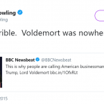 When she made Voldemort look like the good guy. (Photo: Twitter)
