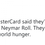 Master Card would go bankrupt! (Photo: Twitter)