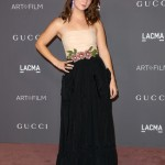 Lourd attended the 2017 LACMA Art + Film gala in a Gucci number featuring a simple beige strappy top with black skirt with pockets and sparkling flower belt. (Photo: WENN)