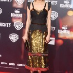 """Diane sparkled at the Hamburg premiere of """"In The Fade"""" in an avant-garde Vera Wang dress staring with black check fabric bodice and ending with a gold sequined skirt. gold (Photo: WENN)"""