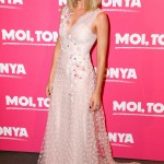 """The """"I, Tonya"""" actress looked every inch the fairytale princess in an elegant embroidered pink Rodarte dress at the French premiere of her movie. (Photo: WENN)"""