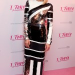 """The Aussie actress wowed in a quirky black, white and silver sequined dress by Jenny Packham at the U.K. premiere of her movie """"I, Tonya."""" (Photo: WENN)"""