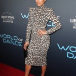 "A fierce Lopez attended the FYC event for NBC's ""World of Dance"" wearing a high-neck Sergio Hudson leopard print dress with that accentuated her toned body. (Photo: WENN)"