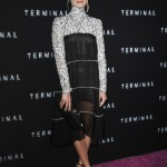 "Margot Robbie looked effortlessly chic in a lace and black sheer monochrome dress by Chanel at the premiere of her new movie ""Terminal."" (Photo: WENN)"
