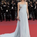 """Diane Kruger dazzled in an ethereal ice-blue asymmetrical shoulder gown by Armani Privé as she attended the premiere of """"Sink or Swim"""" at the 2018 Cannes Film Festival. (Photo: WENN)"""