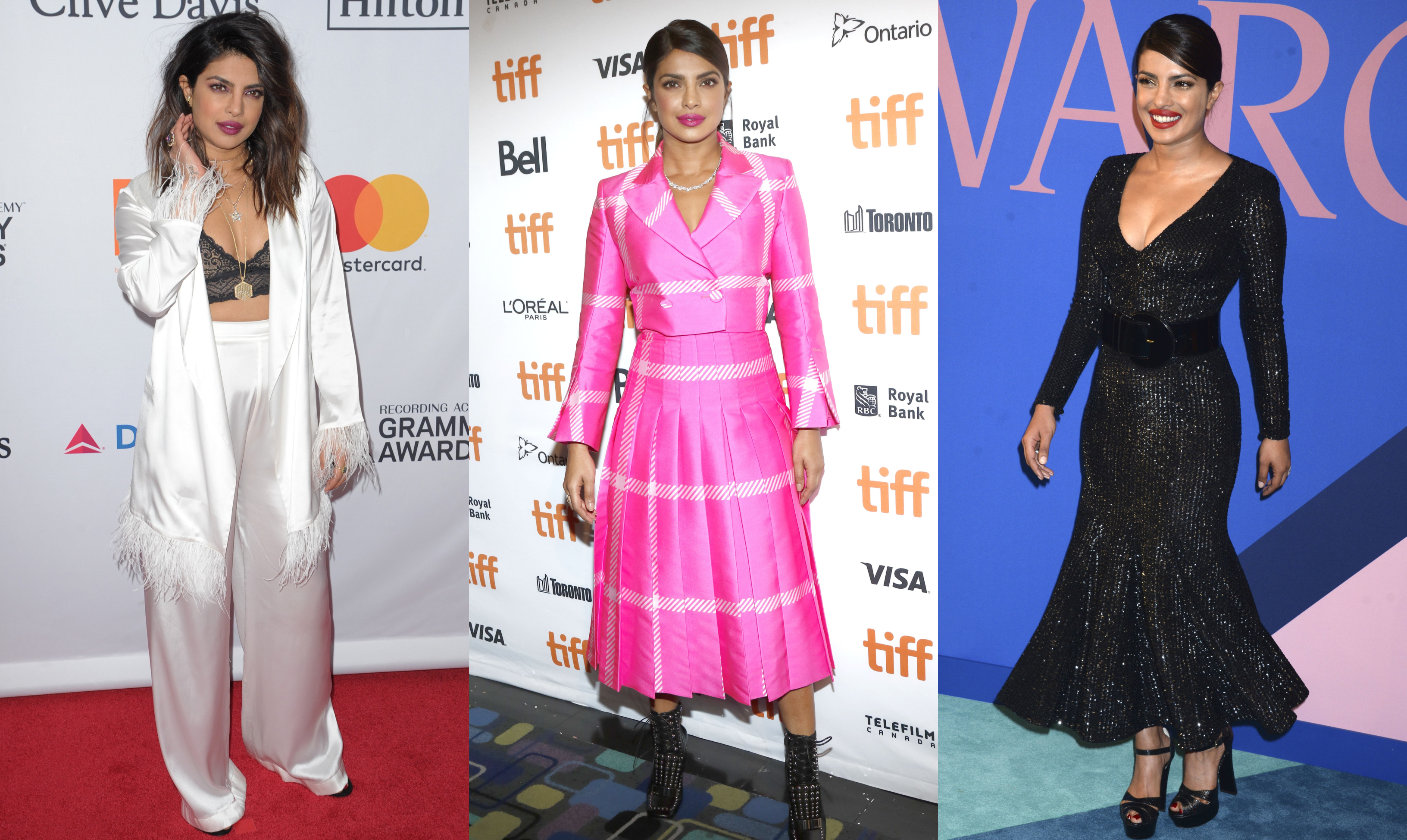 Sure, she's won the Miss World pageant, become a breakout Bollywood star, and earned awards for her role in Quantico, but it's on the red carpet where Priyanka truly shines. (Photo: WENN)