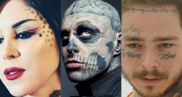 Zombie Boy's And 10 Other Celebrities With Face Tattoos