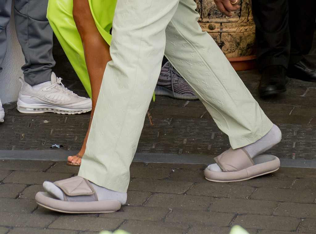 See the best reactions to Kanye's argument to wearing ill-fitting sandals in our photo gallery above. Well—at least they looked comfy! (Photo: WENN)