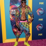 Nick Cannon, where do we start? You're obviously having fun in this outfit but seriously, that print is a little too insane, even for the show's host. (Photo: WENN)