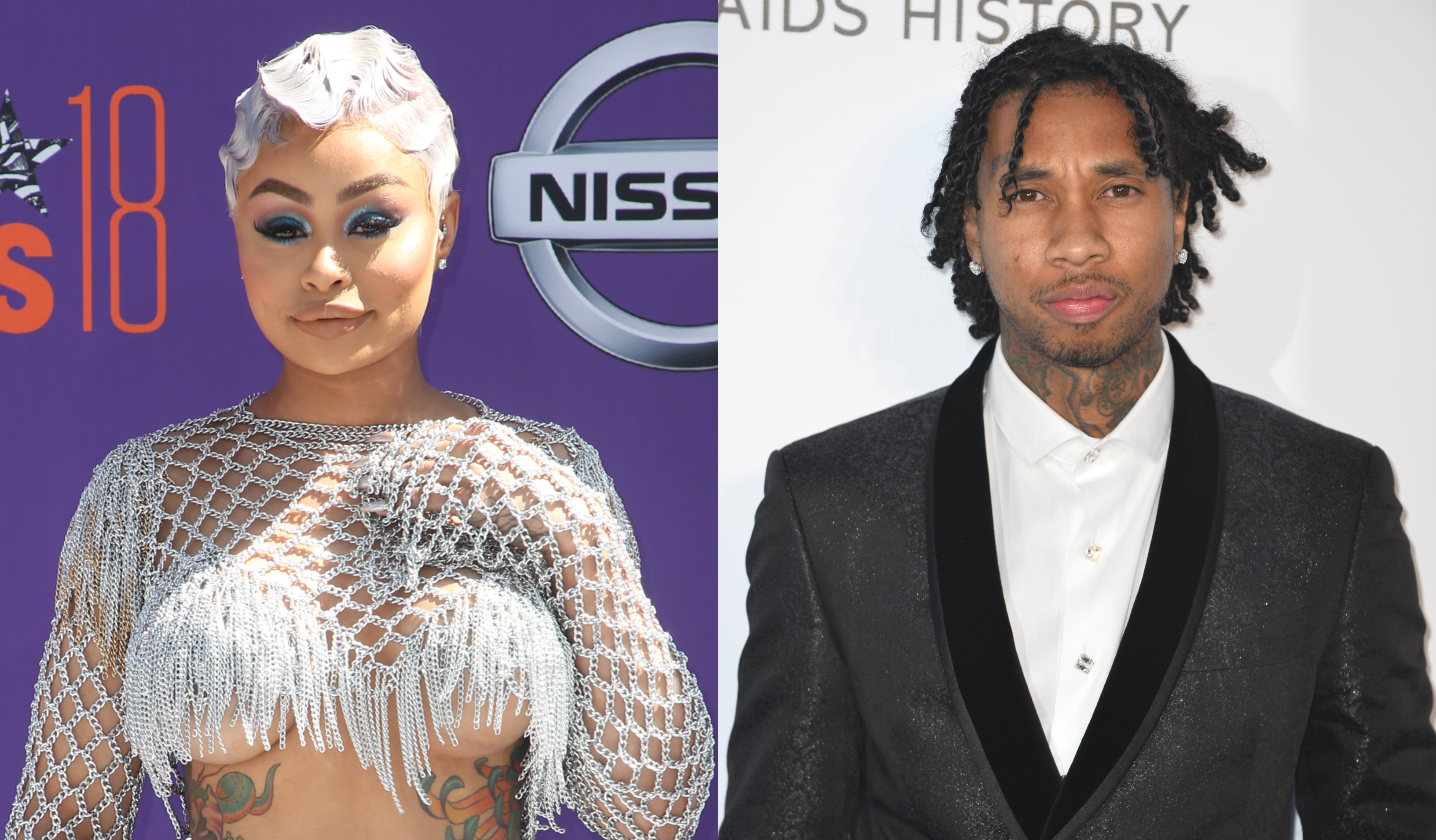 Blac Chyna and Tyga reunite 4 years after their split. (Photo: WENN)