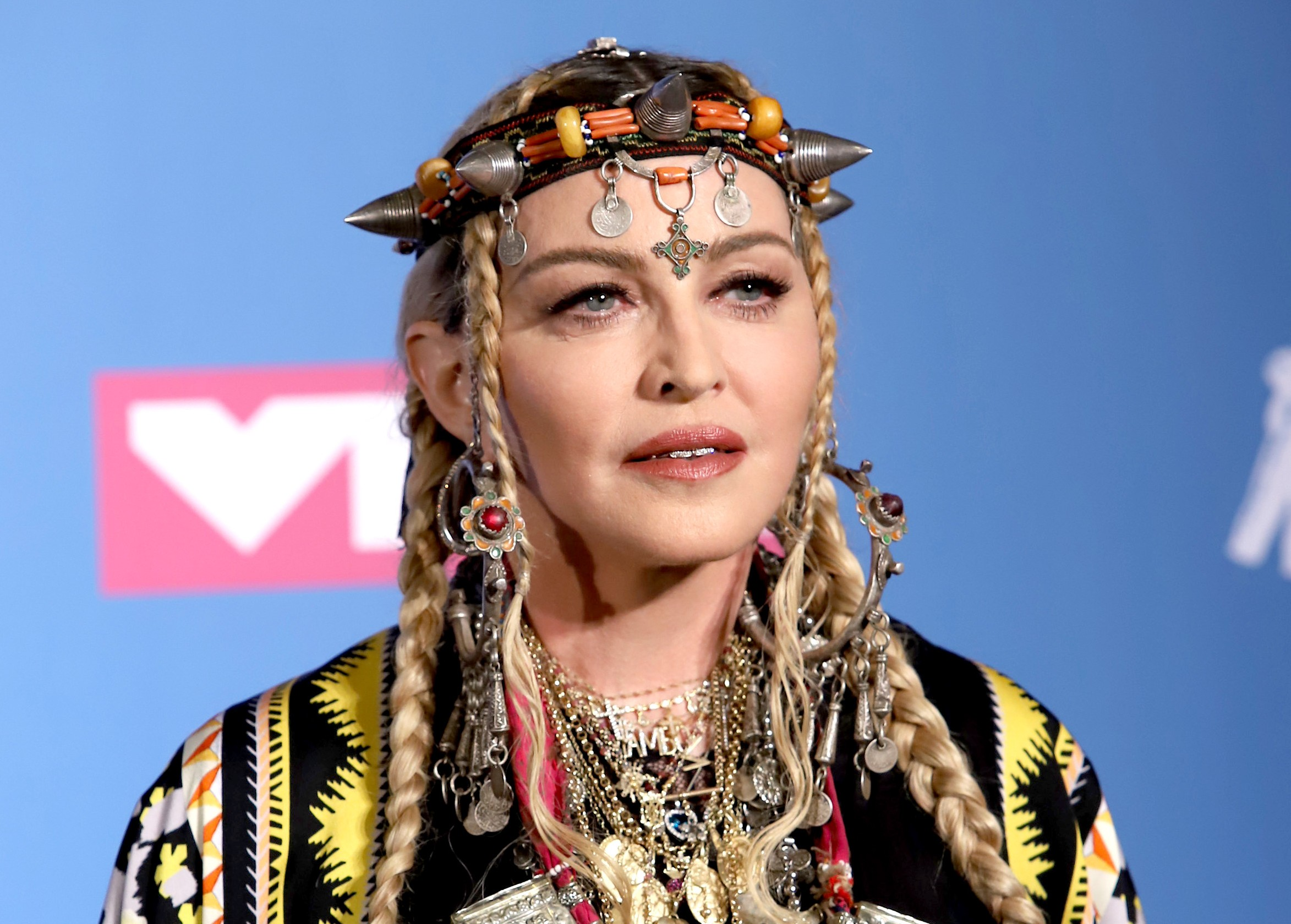 More than a tribute to the Queen of Soul, Madonna's speech seemed like her way of getting back at Aretha Franklin for dying on her 60th birthday and stealing her thunder. (Photo: WENN)