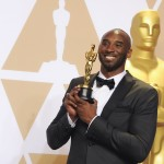 "Kobe Bryant now adds an Oscar to his impressive collection of NBA championships, Gold Medals, and sports awards. He became the first professional athlete to win an Academy Award in 2018 for his short film ""Dear Basketball."" (Photo: WENN)"