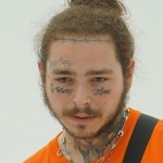 "Post Malone's latest ink outdid everything he's ever stamped on his body before. The rapper revealed a face tat that read ""always tired"" under his eyes. (Photo: Instagram)"