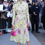 "Priyanka Chopara made it pretty clear that she's got a thing for see-through shoes as she arrived at the ""Good Morning America"" studios donning a pair of clear heels. (Photo: Release)"