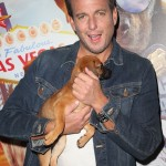 "Will Arnett was caught cuddling with this adorable doggie at the premiere of Global Road Entertainment's ""Show Dogs."" (Photo: WENN)"