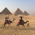 This picture of Kourtney and her man visiting the Pyramids of Giza, marked the couples official Instagram debut, even though we can barely see Younes. (Photo: Instagram)