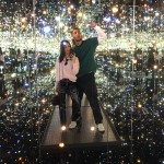 "Kourt and Younes took their romance to the stars and enjoyed a magical date at the popular ""Yayoi Kusama: Infinity Mirrors"" exhibit at the Broad Museum in L.A. (Photo: Instagram)"