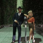 The model and the reality TV star chose a classic Halloween couples costume to celebrate their first Halloween together and dressed up as Bonnie and Clyde. (Photo: Instagram)
