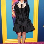 The Teen Choice Awards are supposed to be fun, but Maia Mitchell's dress is a little too Wednesday Adams. (Photo: WENN)