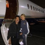 Sofia and Lionel ready to take off to another father and daughter adventure. (Photo: Instagram)