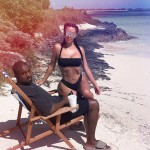 Kim Kardashian and Kanye West looking hot AF as they enjoy a day by the beach is absolute #VacationGoals. (Photo: Instagram)