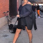 Only Rihanna could make these plastic-wrapped, see-through shoes look fashionable, as she proved while she strolled around the streets of New York. (Photo: Release)