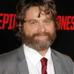 "Zach Galiafianakis and his ever-present full beard attended the ""Keeping Up With The Joneses"" premiere. (Photo: WENN)"