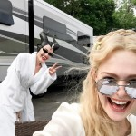 "Elle Fanning is in London where she's currently filming ""Maleficent 2"" alongside Angelina Jolie. (Photo: Instagram)"