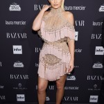 Kylie Jenner attended the 2017 Harper's Bazaar Icons Party with a sexy pair of ankle-strap see-through shoes. (Photo: Release)
