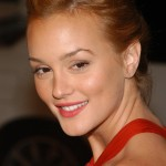 We bet that if Leighton Meester could go back in time, there's only one thing she would chance, and that would be her pencil-thin 00's eyebrows. (Photo: WENN)