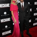 Rosie Huntington-Whiteley and Jason Statham are the same height. But when she slips on heels, Rosie easily towers over her fiancé. (Photo: WENN)
