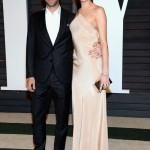 Adam Levine is in fact two inches taller than Behati Prinsloo, but it doesn't look like it since she's almost always wearing heels when they hit the red carpet together. (Photo: WENN)